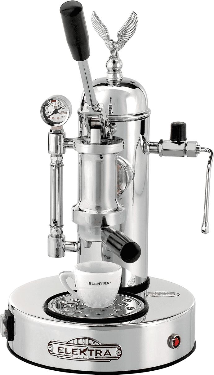 Elektra silver lever espresso machine