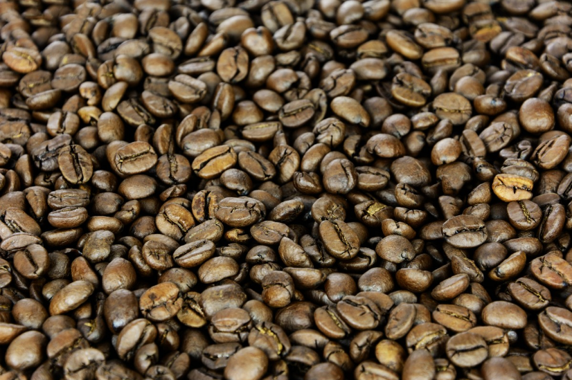 Freshly roasted medium roast coffee